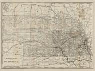 Nebraska 1890 Missouri Pacific Railway Co. - Old State Map Reprint