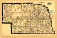 Nebraska 1897 Galbraith - Quirky Railroad Map - Old State Map Reprint