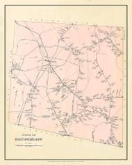 East Longmeadow, Massachusetts 1912 Old Town Map Custom Reprint - Hampden Co.