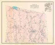 Granville, Massachusetts 1912 Old Town Map Custom Reprint - Hampden Co.