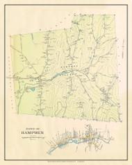 Hampden, Massachusetts 1912 Old Town Map Custom Reprint - Hampden Co.