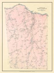 Monson, Massachusetts 1912 Old Town Map Custom Reprint - Hampden Co.