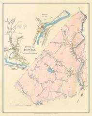 Russell, Massachusetts 1912 Old Town Map Custom Reprint - Hampden Co.