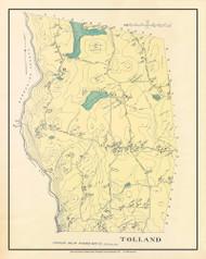 Tolland, Massachusetts 1912 Old Town Map Custom Reprint - Hampden Co.