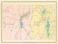 Wales & Holland, Massachusetts 1912 Old Town Map Custom Reprint - Hampden Co.