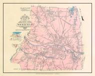 Westfield, Massachusetts 1912 Old Town Map Custom Reprint - Hampden Co.