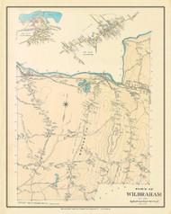 Wilbraham, Massachusetts 1912 Old Town Map Custom Reprint - Hampden Co.