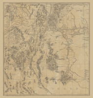 New Mexico 1875 Army Corps of Engineers - Old State Map Reprint