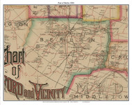 Part of Berlin, Connecticut 1884 Hartford and Vicinty - Old Town Map Custom Print