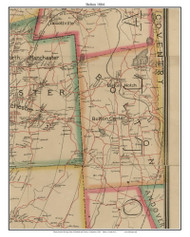 Bolton, Connecticut 1884 Hartford and Vicinty - Old Town Map Custom Print