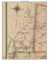 Part of Canton, Connecticut 1884 Hartford and Vicinty - Old Town Map Custom Print