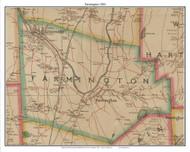 Farmington, Connecticut 1884 Hartford and Vicinty - Old Town Map Custom Print
