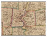 Hartford and East Hartford, Connecticut 1884 Hartford and Vicinty - Old Town Map Custom Print