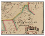 Part of Marlborough, Connecticut 1884 Hartford and Vicinty - Old Town Map Custom Print
