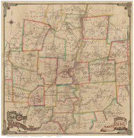 Hartford & Vicinity - Connecticut 1884 - Old Map Reprint