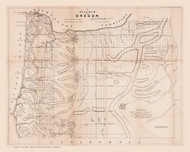 Oregon 1859 Chapman - Old State Map Reprint