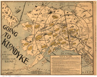 Alaska 1897 Bloom - Alaska - Going to the Klondike - Old State Map Reprint