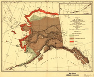 Alaska 1882 Petroof - Foxes - Old State Map Reprint