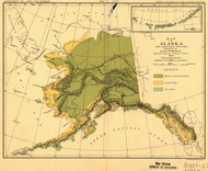 Alaska 1882 Petroof - Otters - Old State Map Reprint