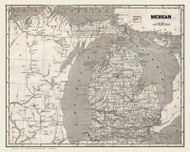 Michigan 1844 Morse - Old State Map Reprint
