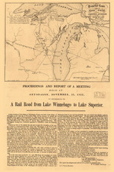 Michigan 1853  - Old State Map Reprint
