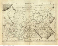 Pennsylvania 1795 Reid - Old State Map Reprint