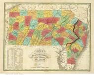 Pennsylvania 1826 Finley - Pennsylvania, New Jersey & Delaware - Old State Map Reprint