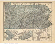 Pennsylvania 1845 Breese, Morse - Coal Regions - Old State Map Reprint