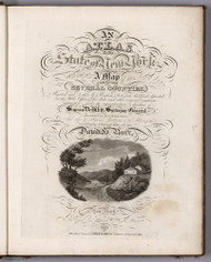 Title Page 1840 - Burr New York State Atlas