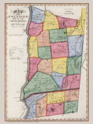 Dutchess & Putnam County New York 1840 - Burr State Atlas