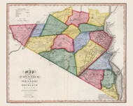 Orange & Rockland County New York 1840 - Burr State Atlas