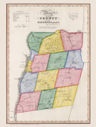 Rensselaer County New York 1840 - Burr State Atlas