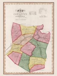 Schoharie County New York 1840 - Burr State Atlas