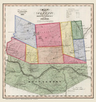 Montgomery and Fulton County New York 1840 - Burr State Atlas