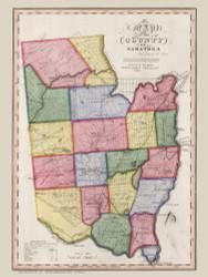 Saratoga County New York 1840 - Burr State Atlas