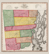 Clinton County New York 1840 - Burr State Atlas