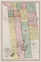 Franklin County New York 1840 - Burr State Atlas