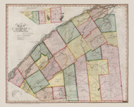 St. Lawrence County New York 1840 - Burr State Atlas