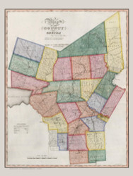 Oneida County New York 1840 - Burr State Atlas