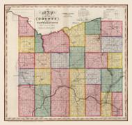 Cattaraugus County New York 1840 - Burr State Atlas