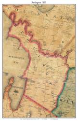 Burlington , Vermont 1857 Old Town Map Custom Print - Chittenden Co.