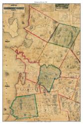 Burlington Environs, Vermont 1857 Old Town Map Custom Print - Chittenden Co.