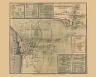Burlington and Winooski, Vermont 1857 Old Town Map Custom Print - Chittenden Co.