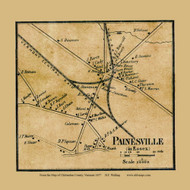 Painesville , Vermont 1857 Old Town Map Custom Print - Chittenden Co.