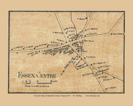 Essex Centre, Vermont 1857 Old Town Map Custom Print - Chittenden Co.