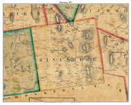 Hinesburgh , Vermont 1857 Old Town Map Custom Print - Chittenden Co.