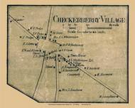 Checkerberry Village, Vermont 1857 Old Town Map Custom Print - Chittenden Co.