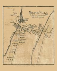 Milton Falls, Vermont 1857 Old Town Map Custom Print - Chittenden Co.