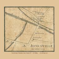 Jonesville, Vermont 1857 Old Town Map Custom Print - Chittenden Co.