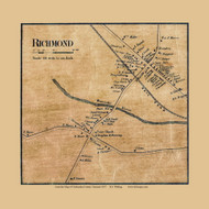 Richmond Village, Vermont 1857 Old Town Map Custom Print - Chittenden Co.
